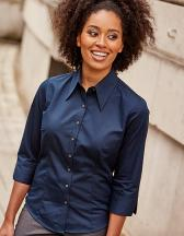 Ladies` 3/4 Sleeve Tencel® Fitted Shirt