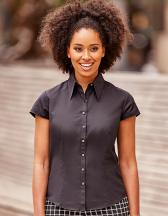Ladies` Cap Sleeve Tencel® Fitted Shirt